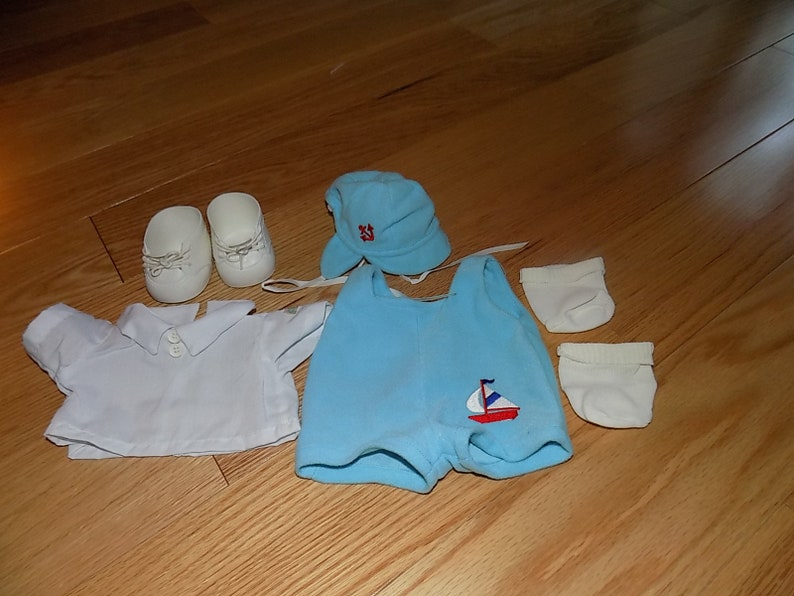 94a1e50e68844 Cabbage Patch Kids Clothes Clothing Outfit CPK Vintage Shoes Accessories  Dress Doll Girl Boy dolls Preemie jumper hat Sailboat Preemie