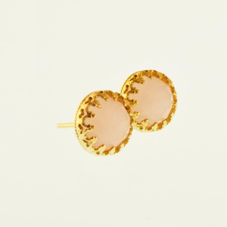 Rose Pink Earrings,Pink stud earrings,Gold earrings,pink studs,stud earrings,pink earrings,light pink earrings,Dainty earrings