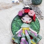 MADE TO ORDER / polymer clay necklace  / art necklace
