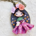 MADE TO ORDER- polymer clay necklace  / art necklace