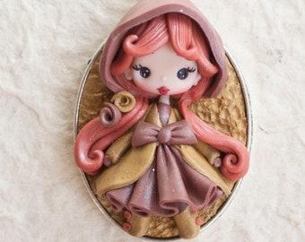 ready for shipping!!  polymer clay fairy pendant-autumn lolita, zingara creativa