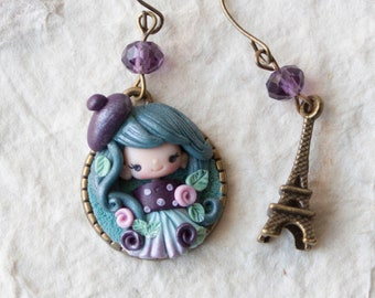 pre-order earrings clay / polymer clay / clay doll / fimo/ parisian