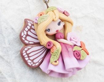 polymerclay pendant / fairy doll- zingara creativa- made to order