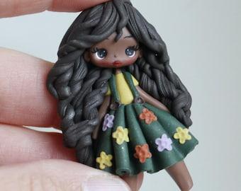 polymer clay pendant / fairy/ fimo/ clay / made to order /zingara creativa