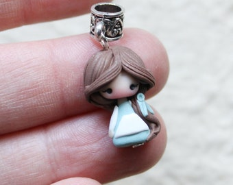 ready for shipping - mini BELLE  doll charm