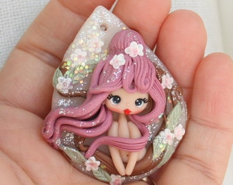 polymerclay dolls, polymerclay pendants, zingara creativa, made to order