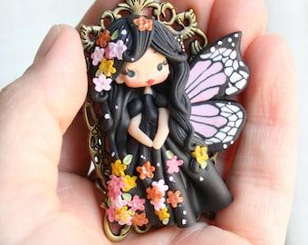 fairy polymer clay necklace/ zingara creativa- MADE TO ORDER