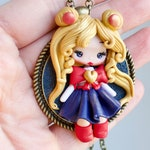 PRE-ORDER polymer clay necklace / doll  / clay / fimo / zingara creativa /fairy