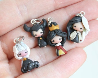 villains very small charms only 0,5 in /  disney  princess / disney / princess collection/ made to order