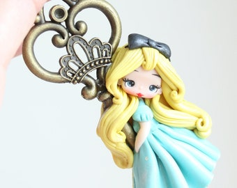 clay doll / polymer clay alice pendant/ made to order
