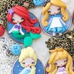 polymer clay necklace / disney / princess / clay / disney princess / belle