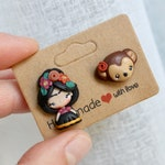 MADE TO ORDER / F ri d a    studs earrings / earrings polymer clay / jewels