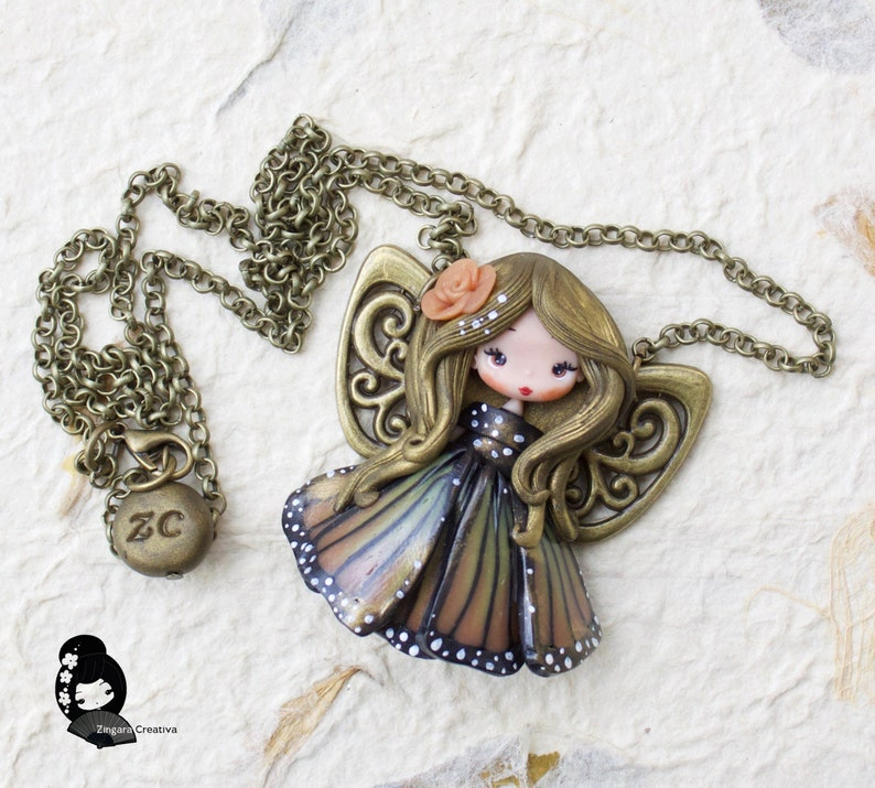 pre order polymer clay necklace / fairy / clay / fimo / image 0
