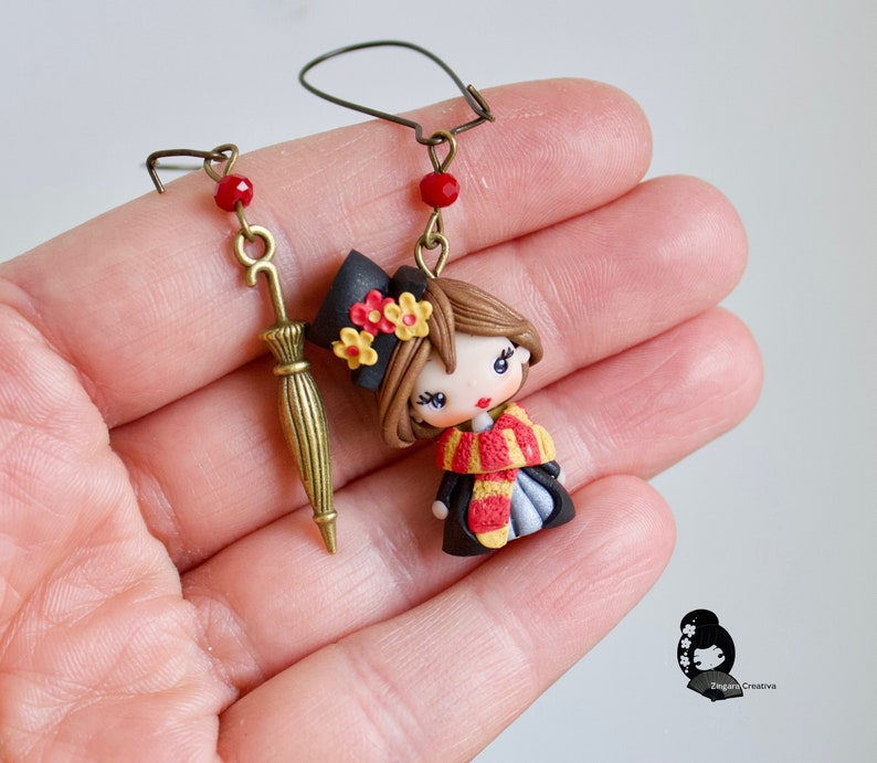 MADE TO ORDER mary poppins earrings clay / polymer clay / clay image 0