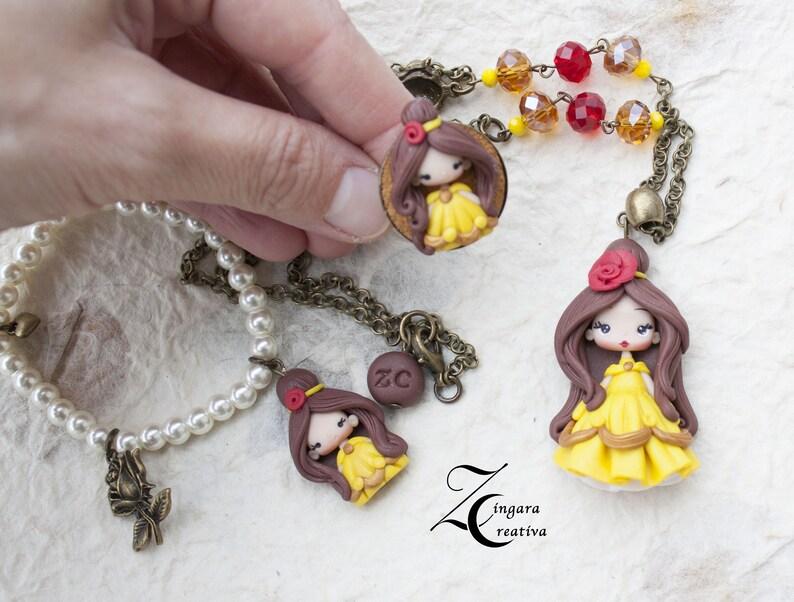 PRE-ORDER / parure with ring necklace bracelet snowwhite image 0