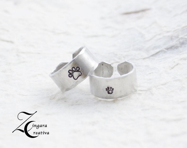 set 2 rings/ aluminum engraved RINGs name jewels image 0