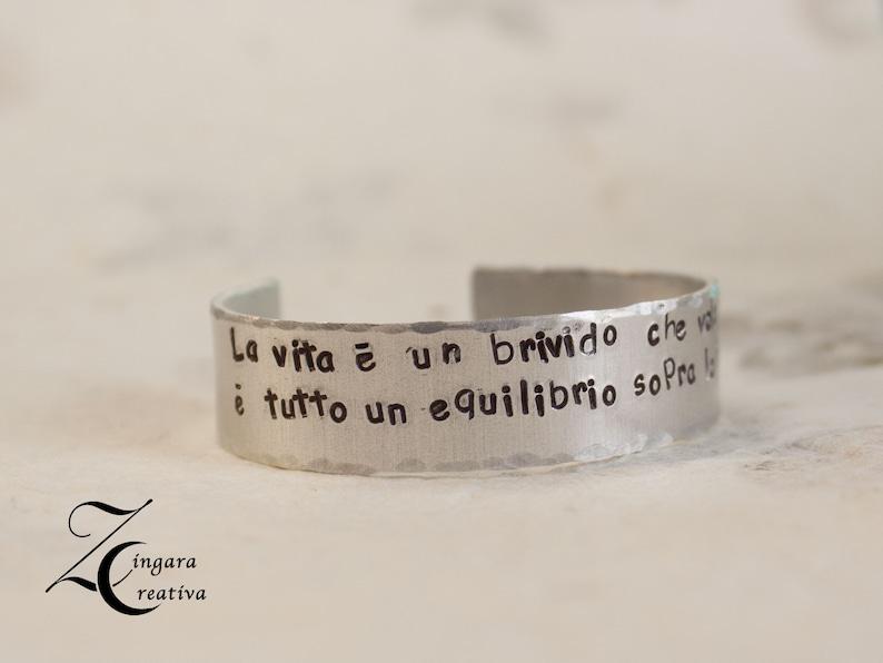phrase bracelet quote jewels personalized bangle image 0