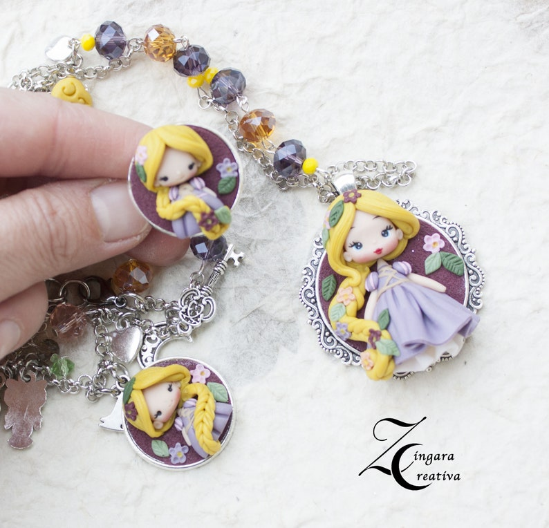 PRE-ORDER / parure with ring necklace bracelet snowwhite image 0