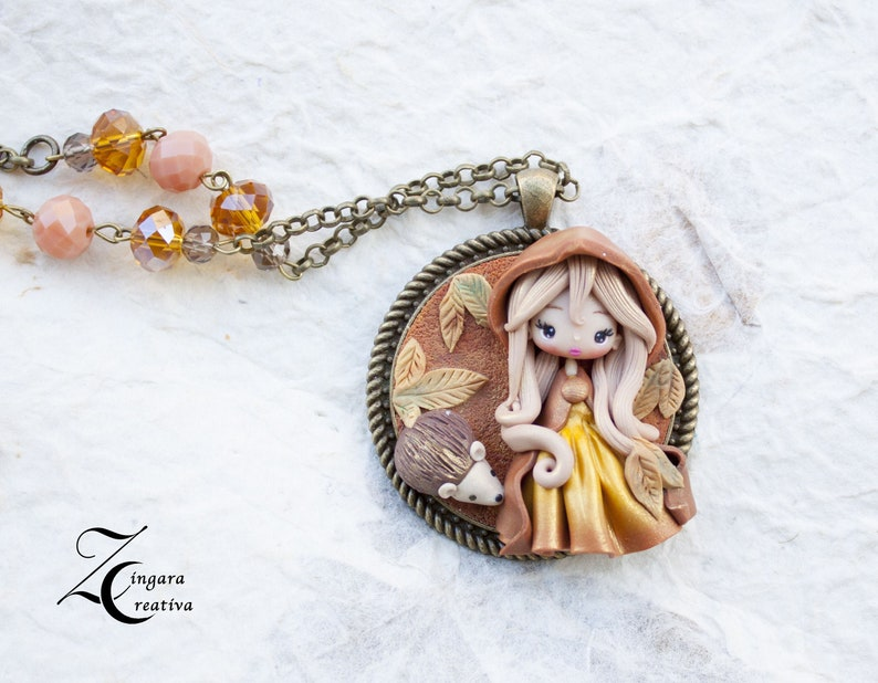 PRE-ORDER polymer clay pendant /autumn collection image 0
