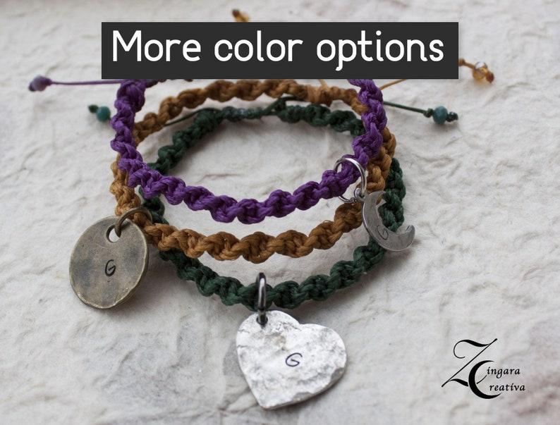 initial bracelet initial jewels personalized bracelet / image 0
