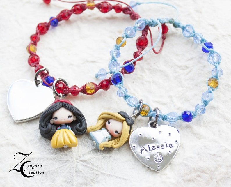 personalized  bracelet / adjustable bracelets / polymer clay image 0