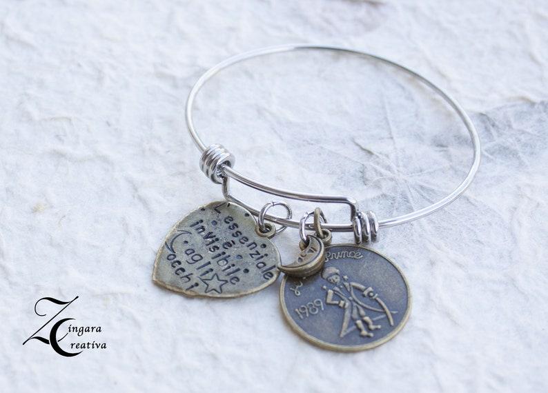 phrase bracelet quote  initial bracelet initial jewels image 0