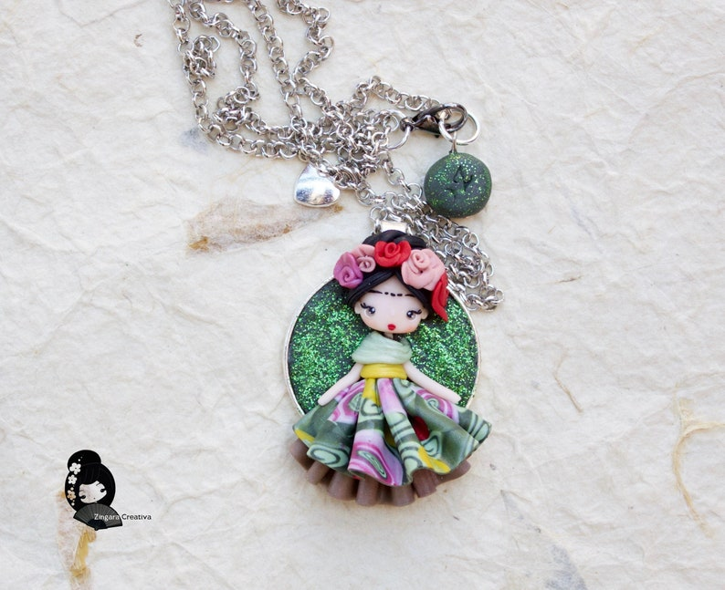 MADE TO ORDER / polymer clay necklace  / art necklace  image 0