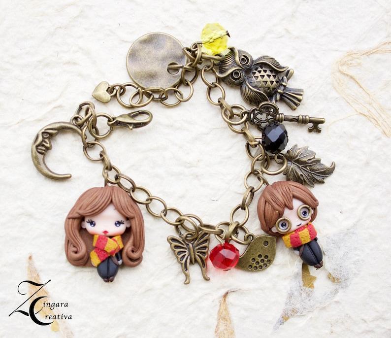 PRE-ORDER charms bracelet / polymerclay dolls bracelet image 0