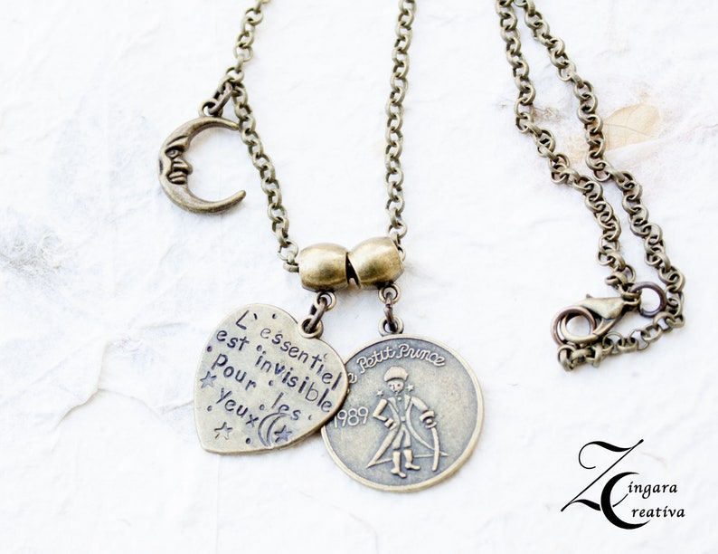 personalized necklace little prince necklace quote necklace image 0