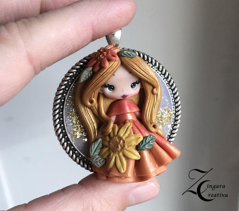READY for shipping polymerclay doll / zingara creativa image 0