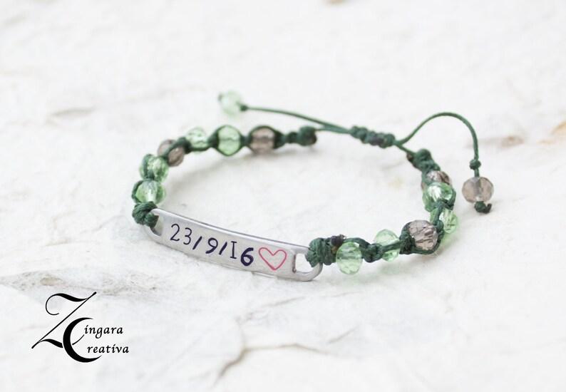 name bracelet date jewels personalized bracelet /man image 0