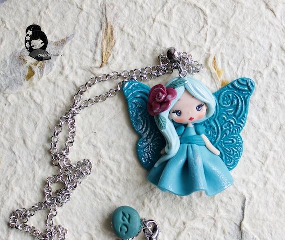 PRE-ORDER polymer clay necklace  fairy  clay  fimo  zingara creativa