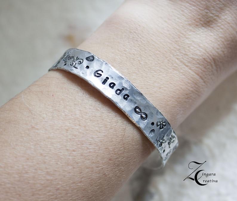 initial bracelet phrase jewels personalized bangle image 0