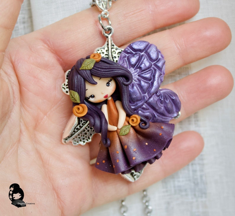 MADE TO ORDER polymer clay necklace / fairy / clay / fimo / image 0