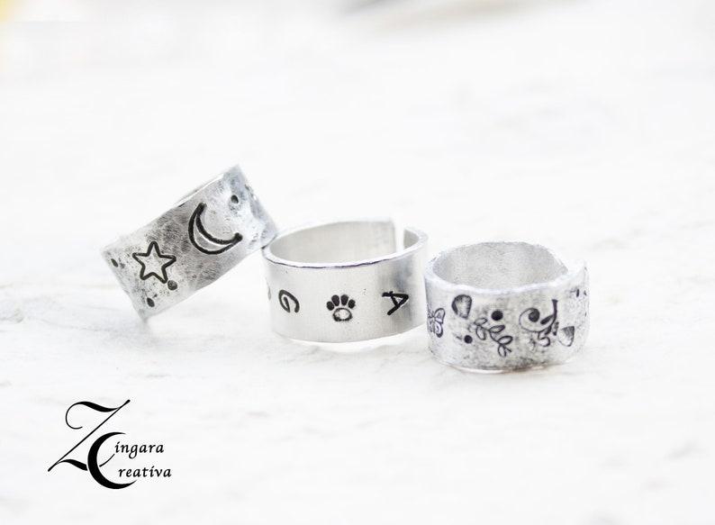 aluminum engraved RING phrase jewels personalized bangle image 0