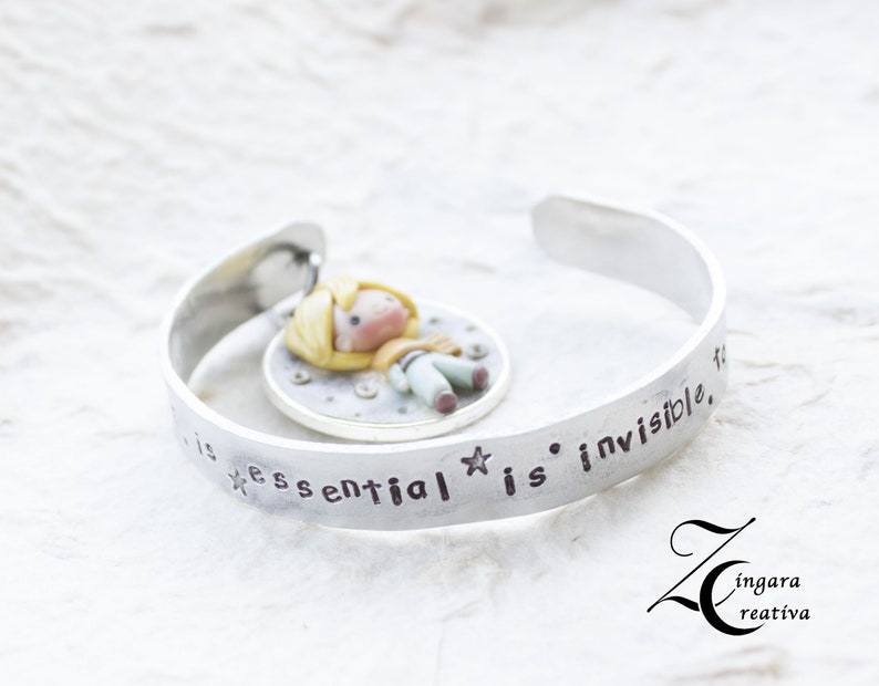 ready for shipping  phrase jewels quote  bangle little image 0
