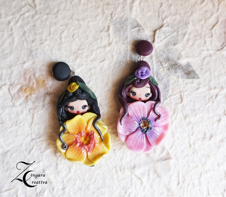 PRE-ORDER polymer clay necklace / fairy / clay / fimo / image 0