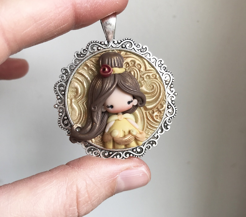 polymer clay  DOLL / disney doll / gift for her / zingara image 0