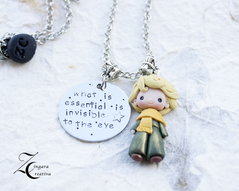 READY for shipping-handstamped jewels  polymerclay doll image 0