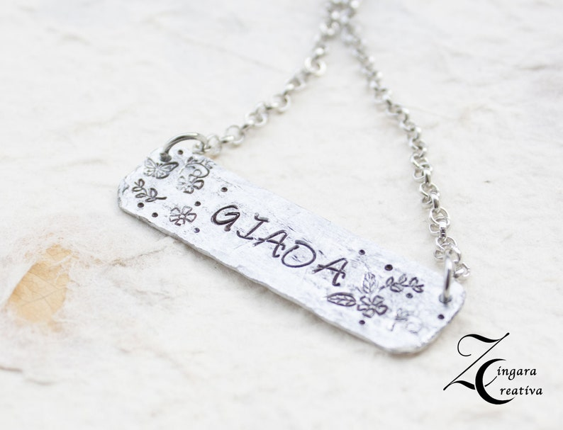 personalized necklace quote necklace name necklace  initial image 0