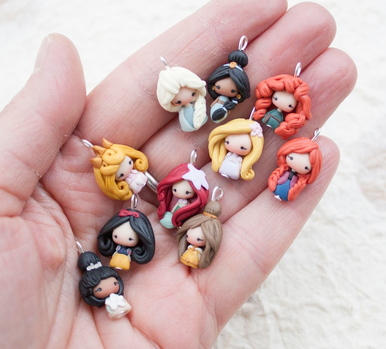 PRE-ORDER very small charms only 05 in /  disney  princess / image 0