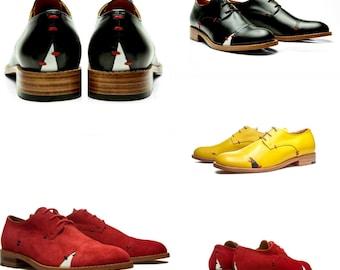 ffacf11f180c5 Scarpe da donna scarpe stringate oxford   rosso hipster scarpe di cuoio    Handmade con lacci appartamenti   scarpe da ufficio nero   confortevole  scarpe