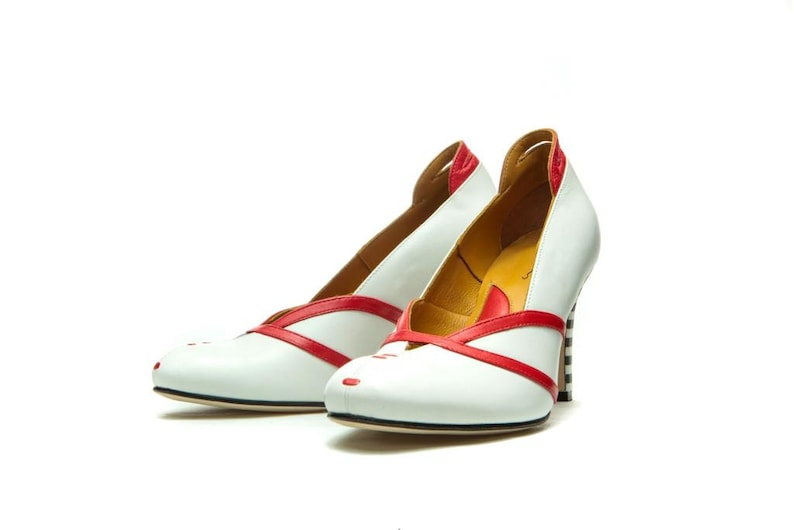 ed8d7bcae691e White leather wedding shoes/ Handmade shoes/ White bridal shoes/ Unique  wedding shoes/ Heels/ Women's high heel leather shoes/ White pumps