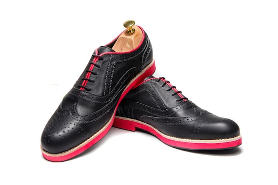 Emillia Handmade Leather Shoes Black Oxford Shoes NEW