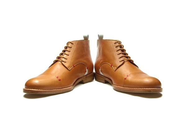Herren Lederschuhe braunen Stiefeletten Herren braun Schuhe Braun Oxford Schuhe handgemachte Herrenschuhe handgemachten Männer Schuhe