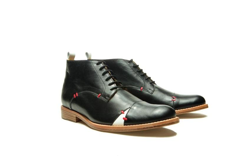 Black Men's leather shoes/ Black Oxford shoes/ Men's image 0