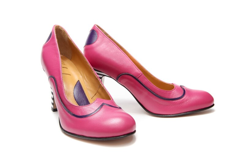 ace208dc8c8e9 Pink Handmade women's leather shoes, Pink high heels, pink high heel shoes,  Wedding shoes, Designer shoes, Heart cut shoes, FREE SHIPPING