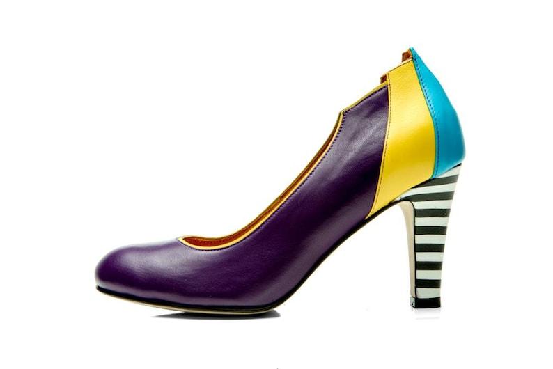b63cd848e8bf Women s shoes  Purple Pumps  Handmade shoes  Leather