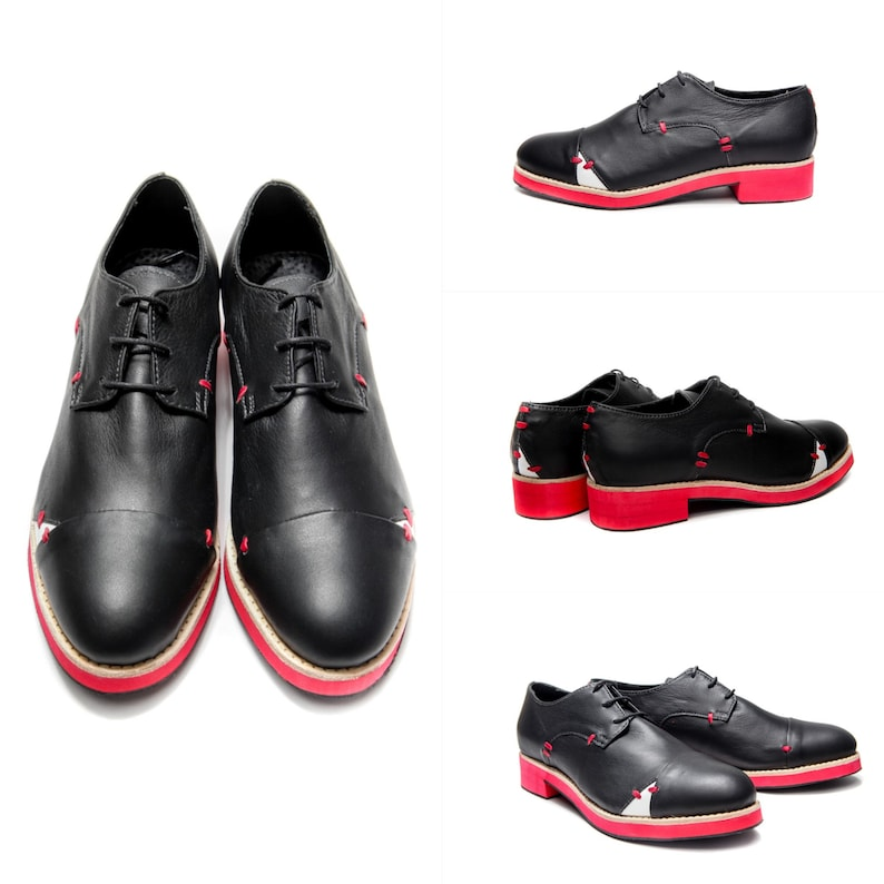 95c57a75f0b9 Black Handmade women s Oxford shoes  Womens Brogues