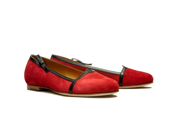 3 Red Size SALE shoes pieces OFF Uk Last Flat 5 flats shoes 5 EU36 5 shoes 50 flats shoes Ballet Leather Women's US Handmade 1q4Bwav